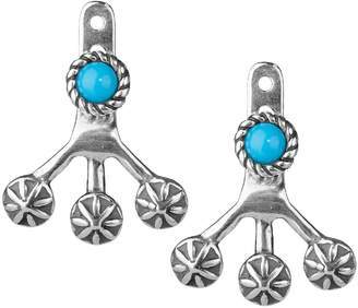 American West Sterling & Turquoise Studs w/ Earring Jackets