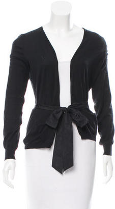 Vera Wang Rib Knit Belted Cardigan $75 thestylecure.com