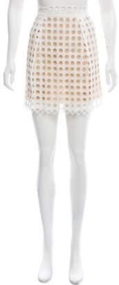 Chloé Eyelet Mini Skirt