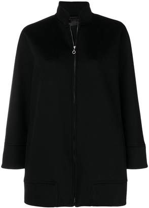 Alberto Biani zip oversized jacket