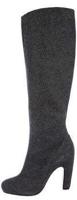 Maison Margiela Pointed-Toe Knee-High Boots