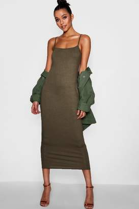 boohoo Tall Jersey Square Neck Maxi Dress