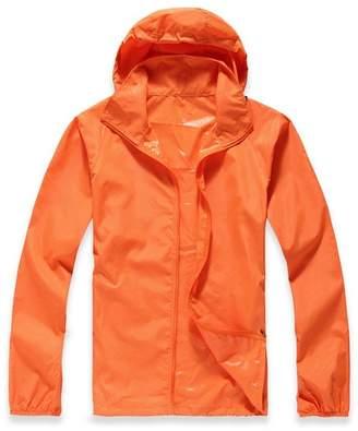 ARJOSA Women's Quick-Dry Water Resistant Windproof Skin Coat UV Protection Jacket (L, )
