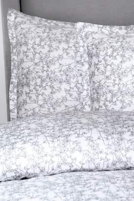 Melange Home Cherry Blossoms Duvet Set - Gray