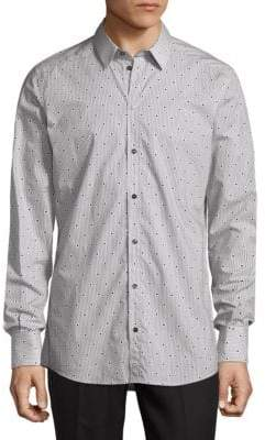 Dolce & Gabbana Circle Print Button-Down Shirt
