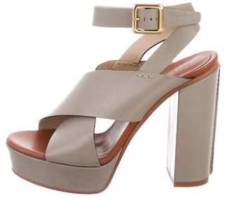 Chloé Platform Leather Sandals