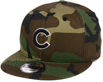 New Era Chicago Cubs Woodland Black/White 9FIFTY Snapback Cap