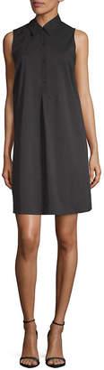 Saks Fifth Avenue BLACK Mini Shirtdress