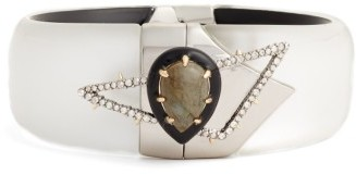 Women's Alexis Bittar Pave Hinge Cuff $295 thestylecure.com