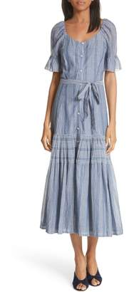 Rebecca Taylor Brianne Stripe Midi Shirtdress