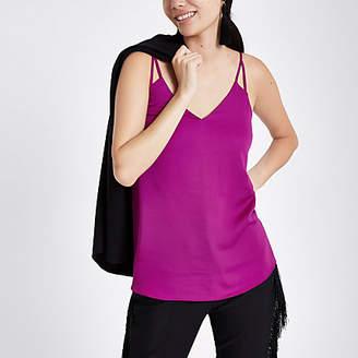 River Island Womens Purple split strap cami top