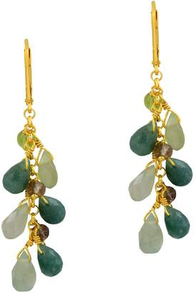 Sterling Shades of Green Gemstone Earrings