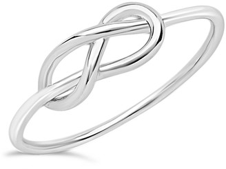 Sterling Forever Sterling Silver Infinity Love Knot Ring