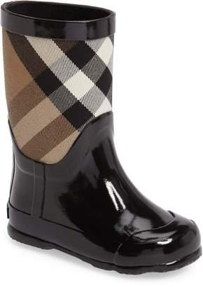 Burberry Ranmoor Waterproof Rain Boot