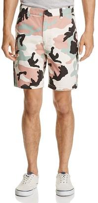 WeSC Rai Camouflage Print Slim Fit Shorts $88 thestylecure.com