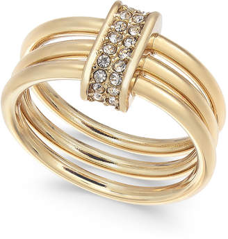 Alfani Gold-Tone Crystal Accent Multi-Hoop Statement Ring, Created for Macy's