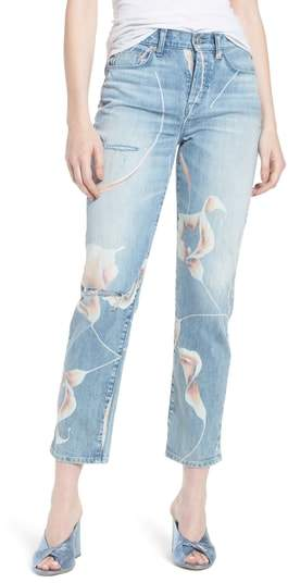 Zoeey High Waist Ankle Straight Leg Jeans