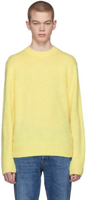 Acne Studios Yellow Peele Crewneck Sweater