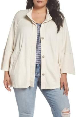Caslon Button Front Knit Jacket