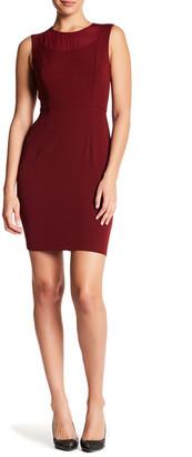 Donna Morgan Crepe Illusion Neck Dress $168 thestylecure.com