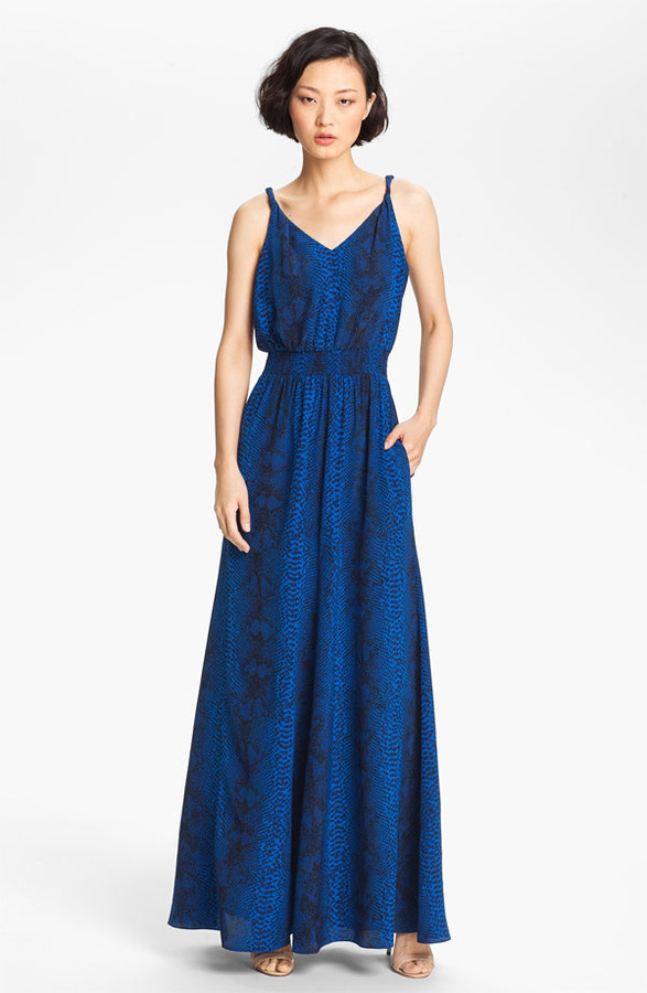Jay Godfrey 'Powell' Twisted Strap Silk Maxi Dress (Nordstrom Exclusive)
