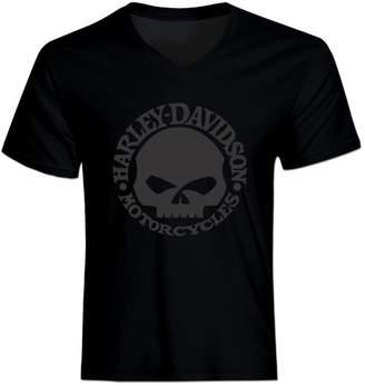 Harley-Davidson FtM4 Men's Skull V-Neck T-Shirt Tee