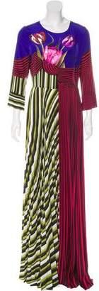 Mary Katrantzou Carni Pleated Maxi Dress w/ Tags
