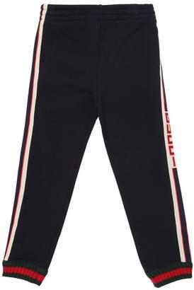 Gucci Logo Side Bands Cotton Sweatpants