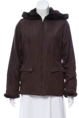 Andrew Marc Faux Fur-Lined Hooded Jacket Faux Fur-Lined Hooded Jacket