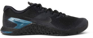 Nike Training Metcon 4 Premium Rubber-Trimmed Mesh Sneakers