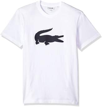 Lacoste Men's Short Sleeve Jersey with Big Tonal Croc Printed T-Shirt, Th9428
