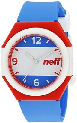 Neff Unisex NF0225AMRN Stripe Analog Display Japanese Quartz Blue Watch