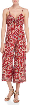 Angie Printed Knotted Keyhole Jumpsuit