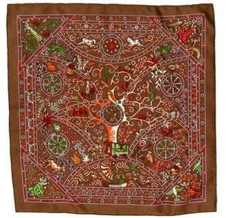 Hermes Peuple Du Vent Silk Pocket Square w/ Tag w/ Tags