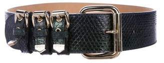 Versace Snakeskin Hip Belt