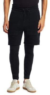 Saks Fifth Avenue X Anthony Davis Knit Shorts with Leggings