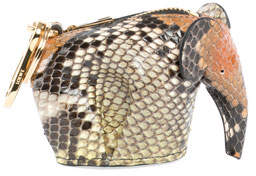 Loewe Python Elephant Bag Charm/Coin Purse, Brown