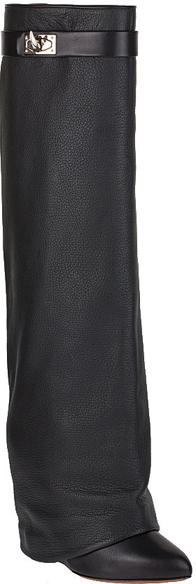 Givenchy Leather fold-over knee boots NEW SEASON
