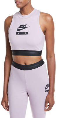 Nike High-Neck Racerback Fitted Crop Top