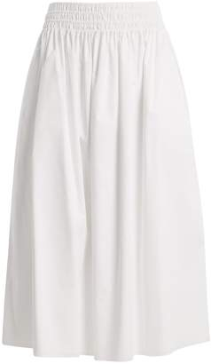 The Row Betsy stretch-cotton midi skirt