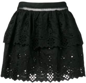 b81f5c771f88 Alberta Ferretti lace embroidered mini skirt