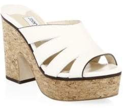 Jimmy Choo Dray Cork Platforms