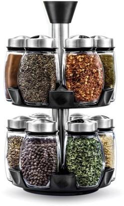 Blümwares Blumwares 12 Glass Spice Jar Rack