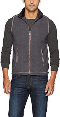True Grit Men's Bonded Polar Fleece and Faux Sherpa Vest with Zip Pockets