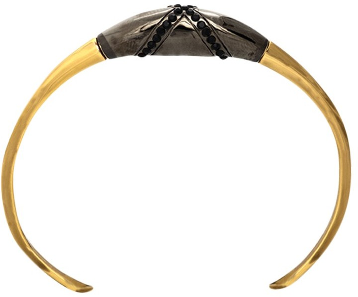 House Of Harlow Obsidian Feather Cuff