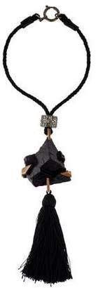 Marc Jacobs Fluorite Tassel Pendant Necklace