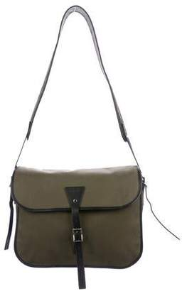 Christian Dior Leather-Trimmed Messenger 012252a3c1dab