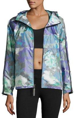 adidas by Stella McCartney Bloom Running Jacket, Power Purple $350 thestylecure.com