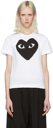 Comme des Garçons Play White Heart T-Shirt $100 thestylecure.com