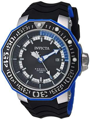 Invicta Men's 'Reserve' Automatic Stainless Steel and Silicone Casual Watch